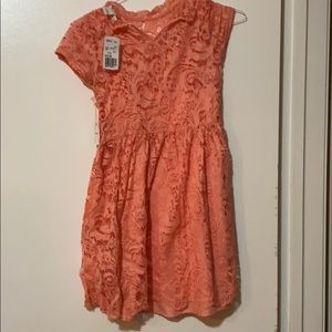 Girls peach forever 21 floral dress